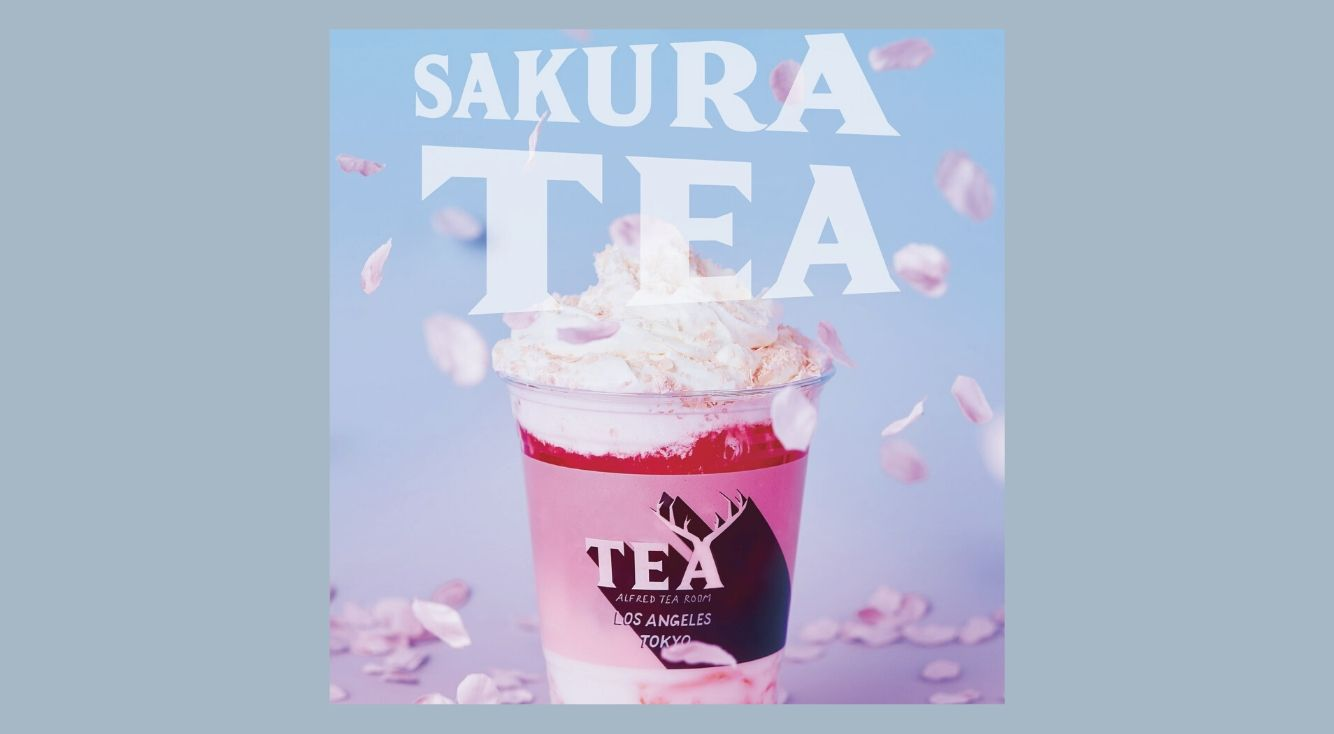 「ALFRED TEA ROOM」から「桜」をイメージしたピンクの限定メニューが登場!