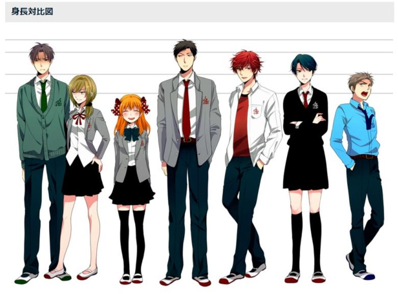 月刊少女野崎くん身長対比図