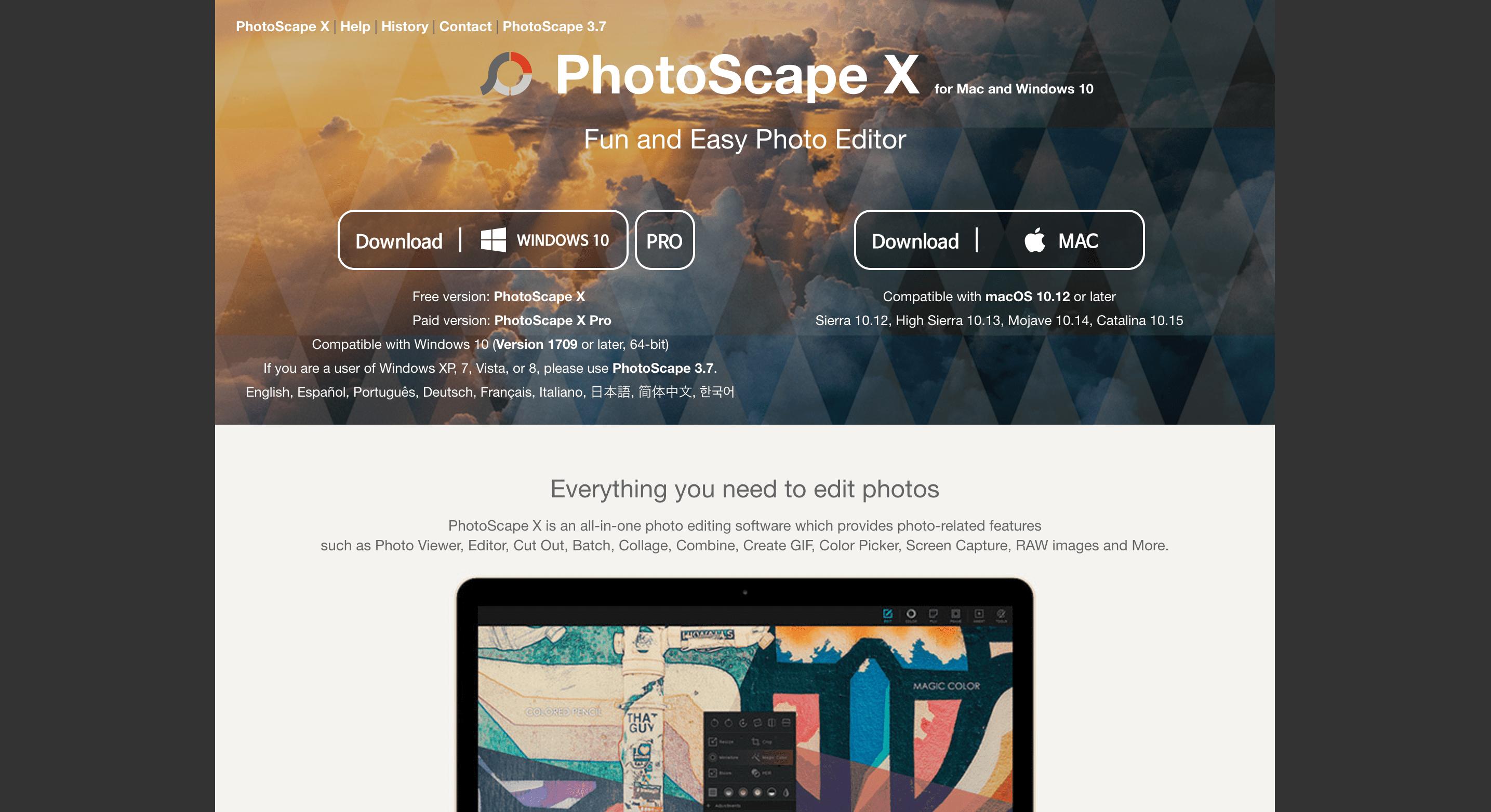 Photoscapeサイト画像