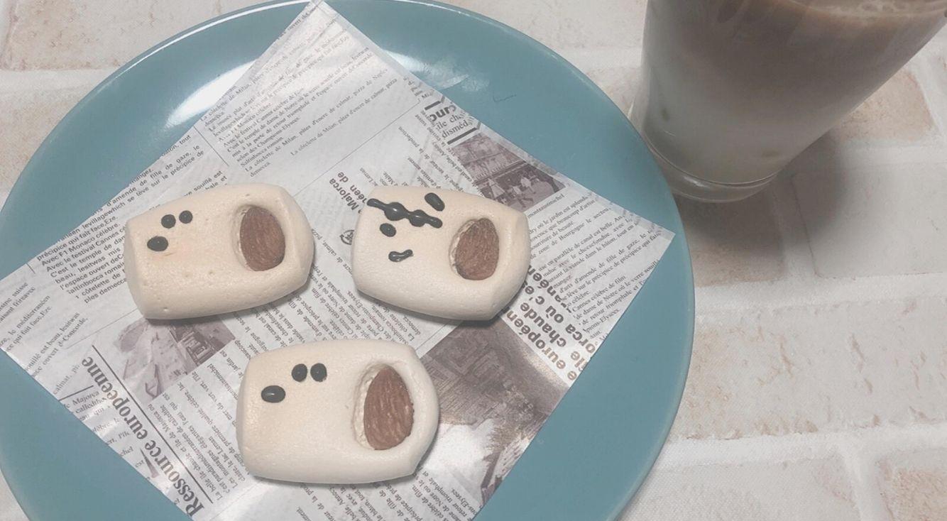 【#おうちカフェ】癒される簡単キャラおやつ♡マシュマロでスヌーピーを作ってみた!