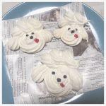 韓国風のおうちカフェに♡メレンゲで作るプードルクッキーのレシピをご紹介!