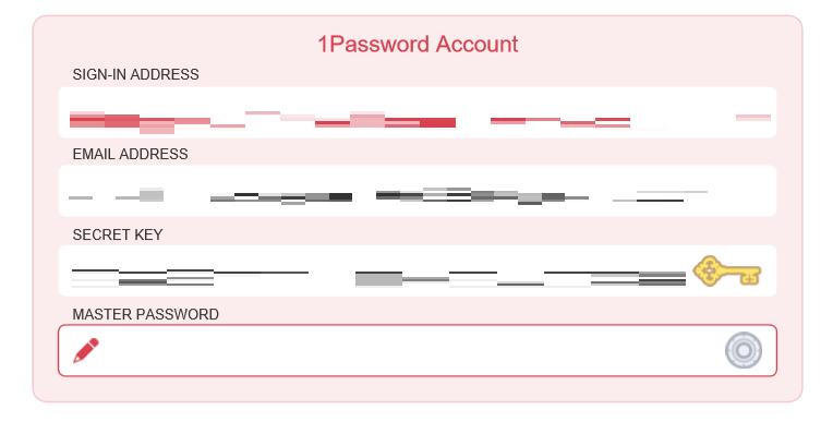 マスターパスワード