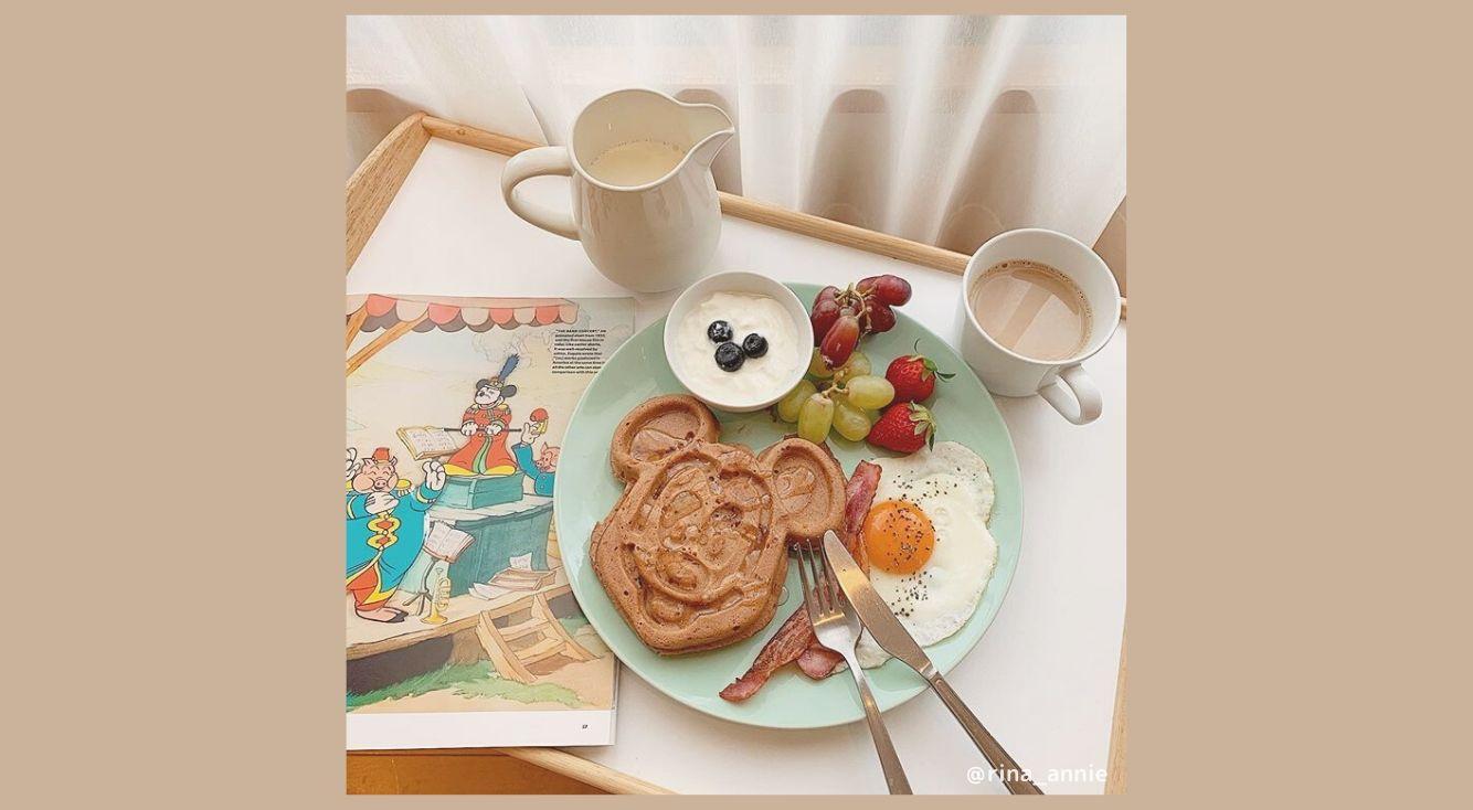ディズニーワッフルをつくろう!ミッキーやダッフィーに#おうちカフェ で会える♥