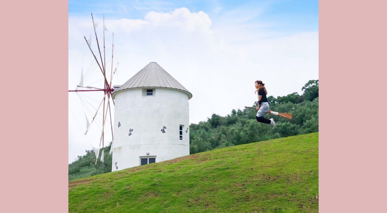 【小豆島オリーブ公園】魔女の宅急便みたいな空中浮遊写真を撮る方法