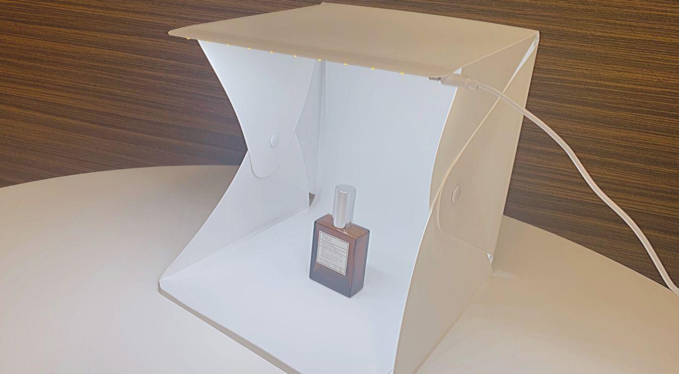 【使ってみた】サンキューマートの『LEDライト付き・折りたたみ撮影ボックス』で物撮りをよりキレイに♡