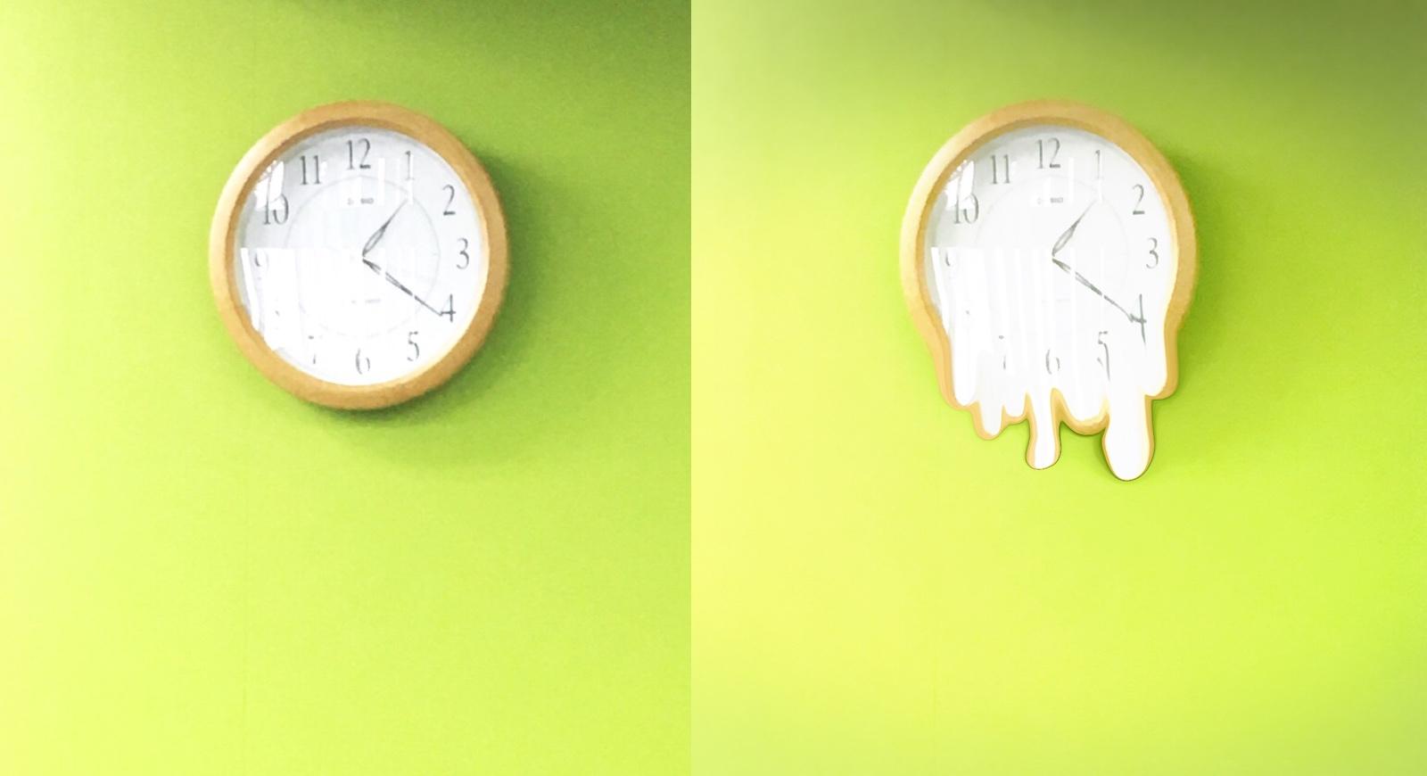 インスタ溶けちゃった加工の時計