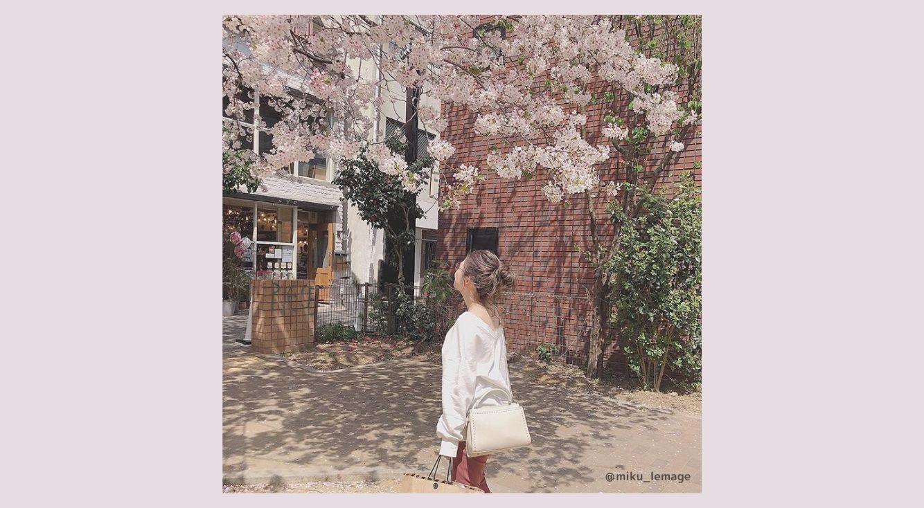桜よりもわたしを見て。お散歩デートにも使えるお花見コーデアイテム♡