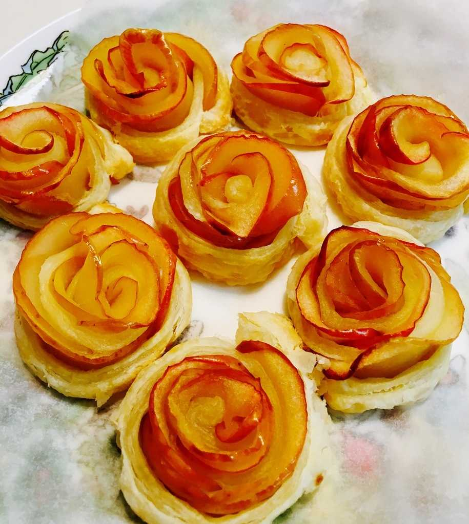 バラのアップルパイを作ってみた