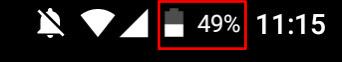 表示位置は画面の右上