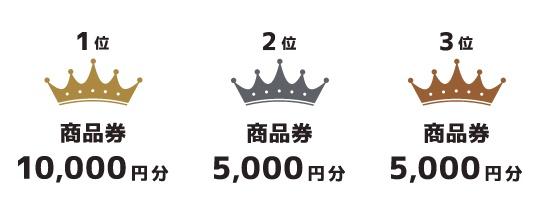 一位には商品券一万円分貰える