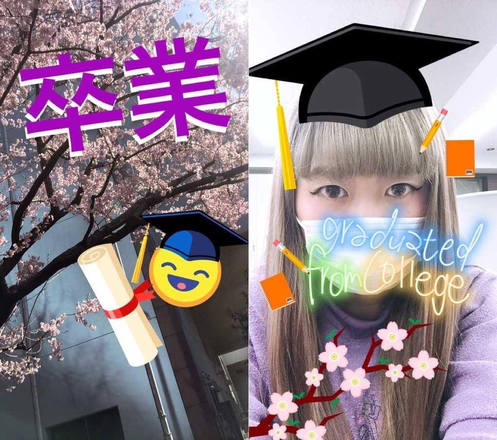 インスタストーリーの卒業・入学スタンプ