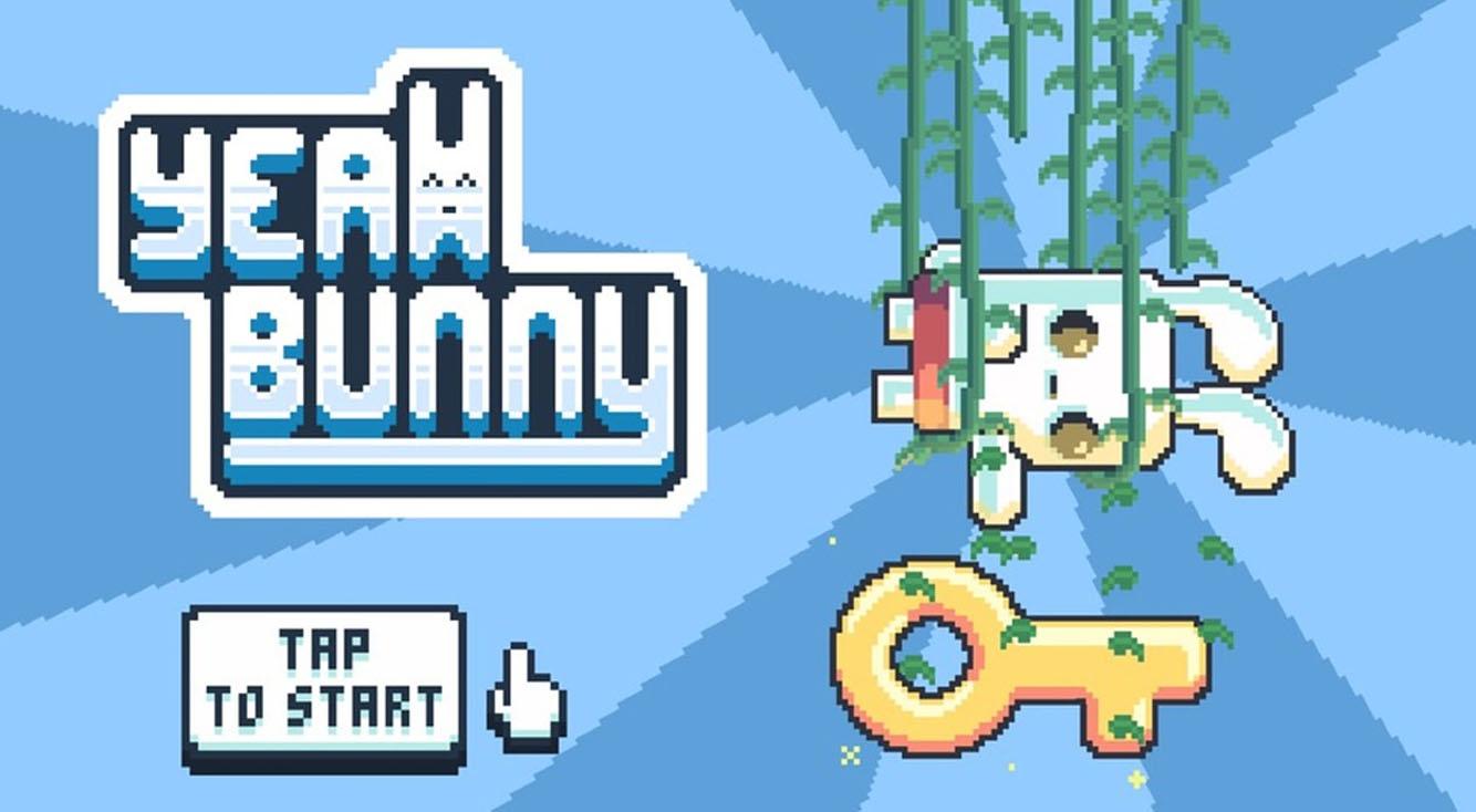 何とも言えない表情の白いうさぎがぴょんぴょんするゲーム【Yeah Bunny!】