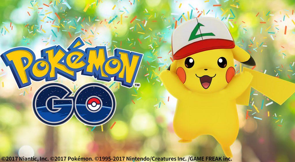 【ポケモンGO】1周年記念イベントでサトシの帽子をかぶったピカチュウが登場チュウ♡
