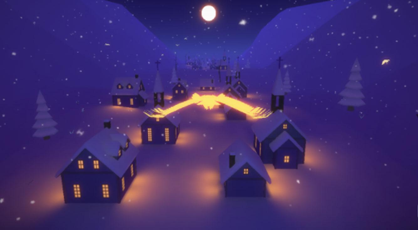 幻想的な雪の世界を羽ばたく3Dランゲーム【ホワイトトリップ】
