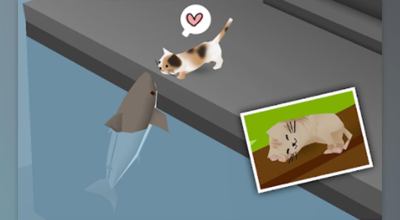 のほほん(*´ω`*)3D放置系育成ゲーム【猫とサメのいる街】