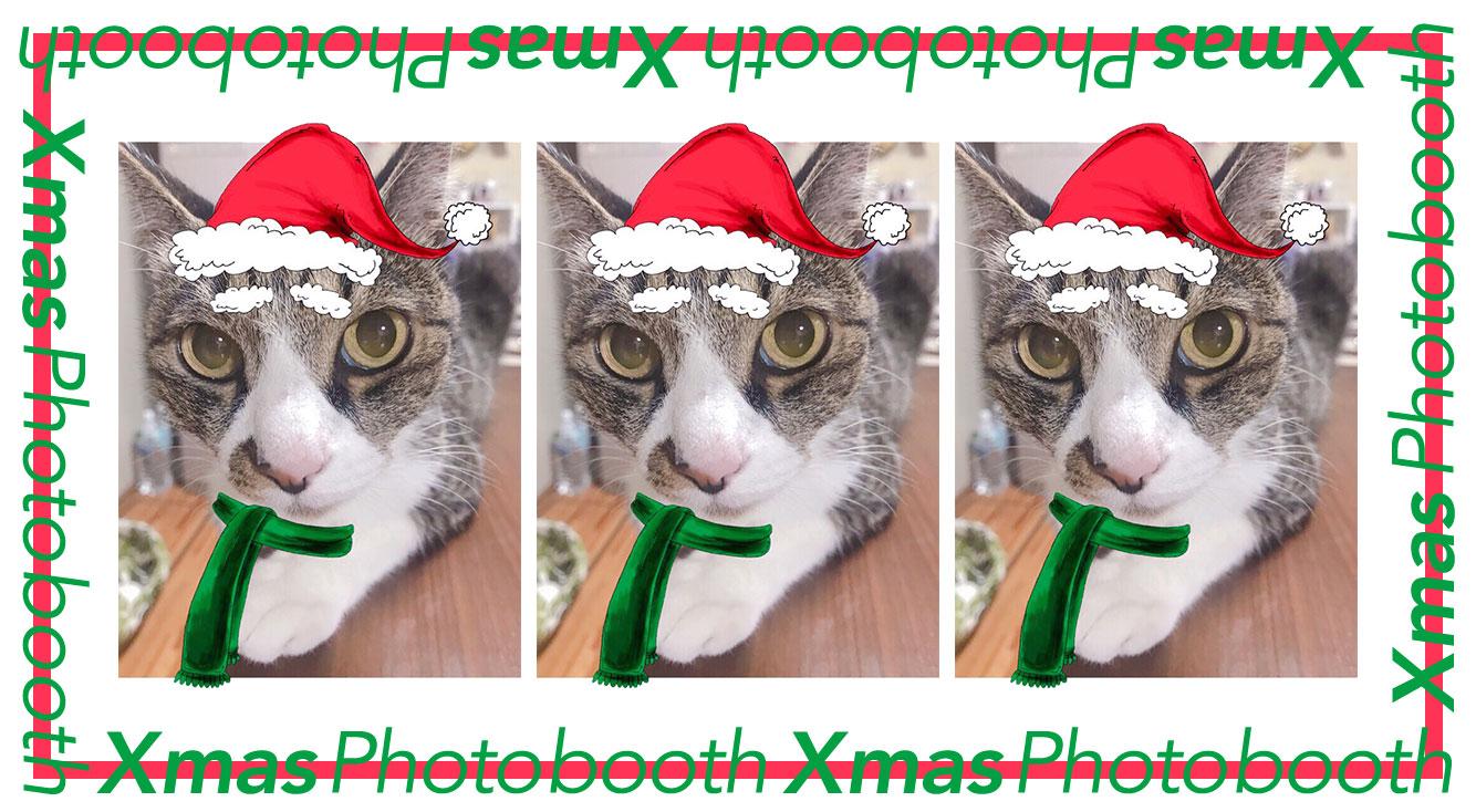 クリスマス・フォトブース!サンタさんになれる加工が可愛い🎄🎅