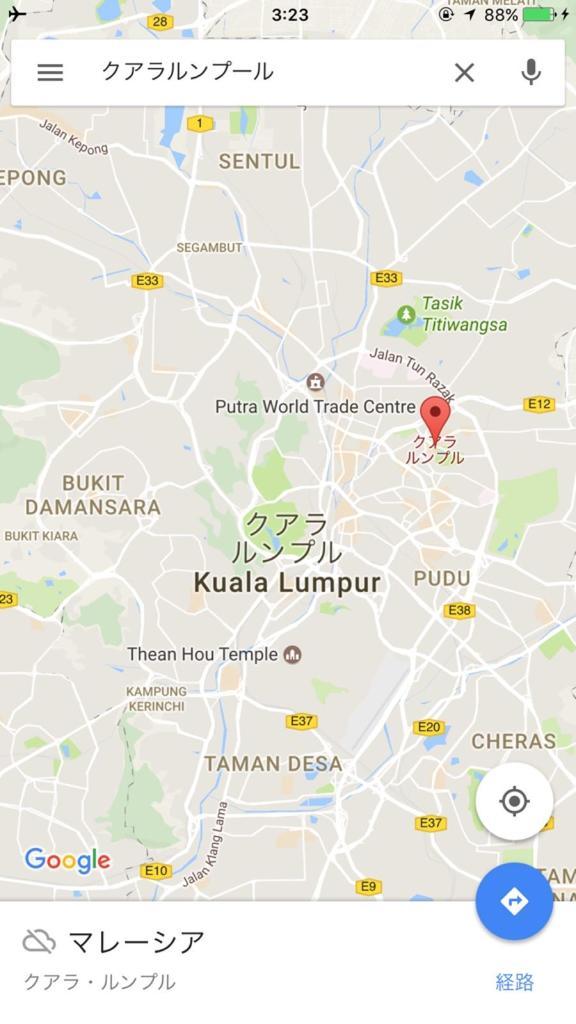 マレーシアの首都クアラルンプールのオフラインマップ