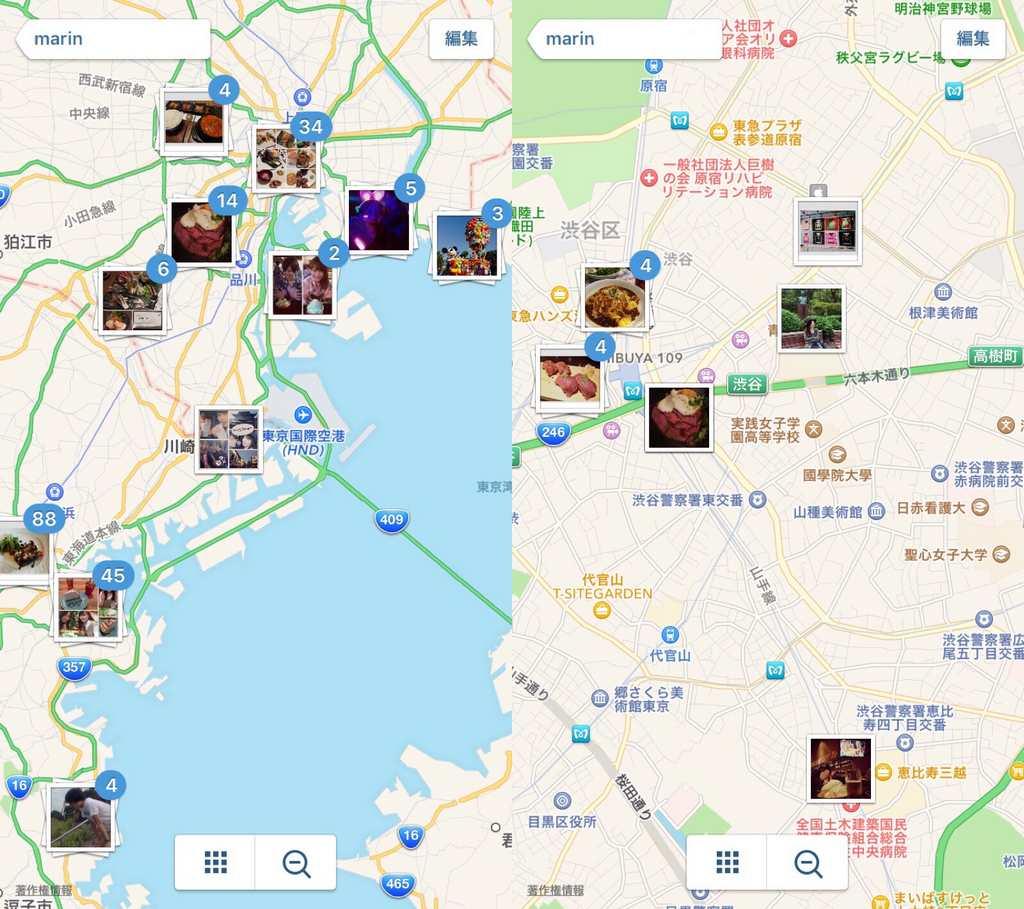 撮影場所を地図で確認