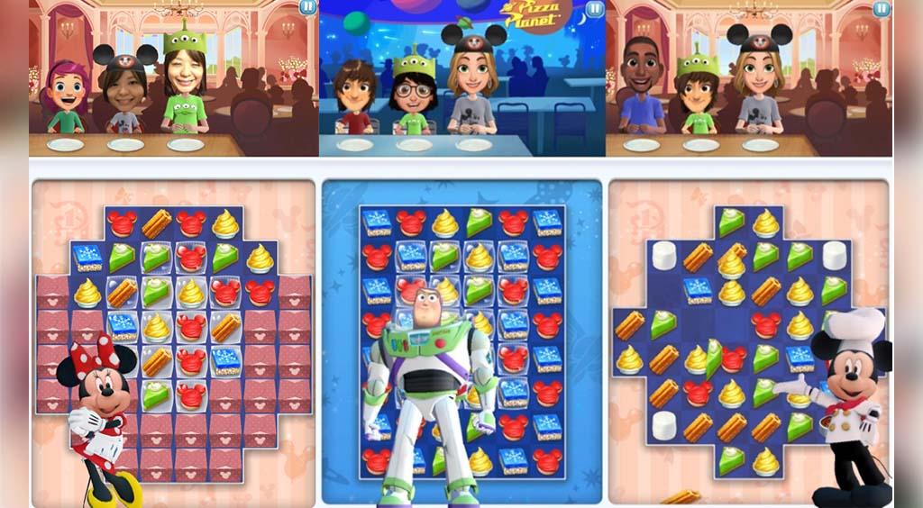 夢のお菓子のパズルゲーム 世界中のディズニーテーマパークのレストランをバーチャルツアー