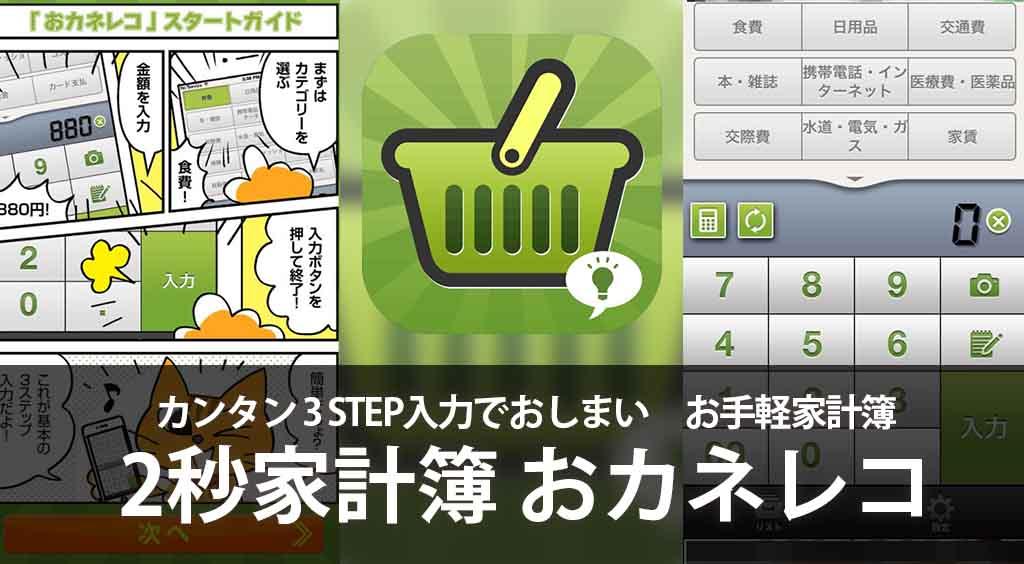 カンタン3STEPで入力おしまい お手軽家計簿 【おカネレコ】 :PR