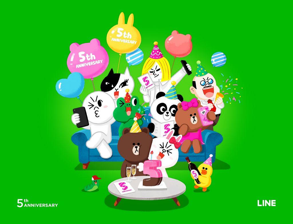 【祝】LINEが5周年!ブラウンやコニーのスタンプが半額に♡