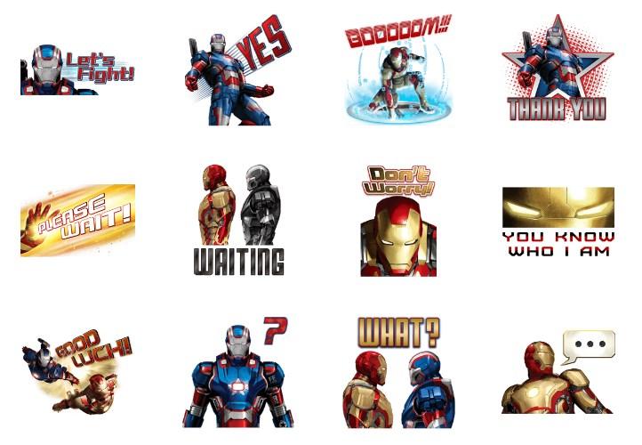 「アイアンマン3」のLINEスタンプ一覧
