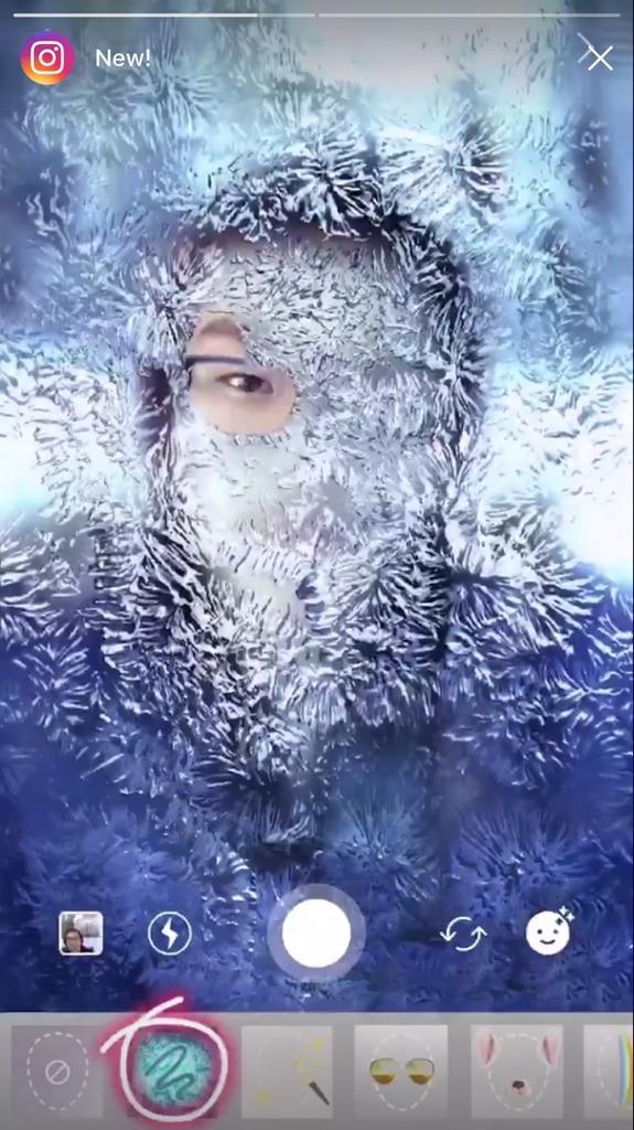 インスタ冬のフェイスフィルター