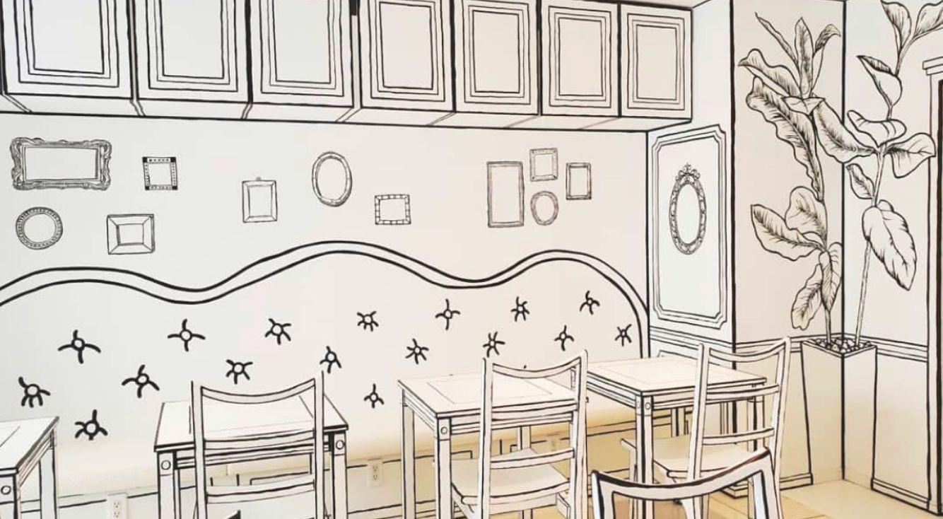 まるで絵本の中?【2D Cafe(トゥデイカフェ)】が新大久保にオープン!だまし絵みたいな空間で、タピオカも飲めちゃう♡