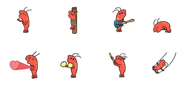 LINEアニメーションスタンプえっびっイメージ