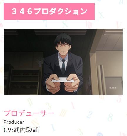 346プロダクションのプロデューサー