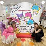 オープン初日レポ!サンリオカフェ in パウダーアートカフェ原宿 の店内やメニュー、お絵描きプレートについて紹介♡