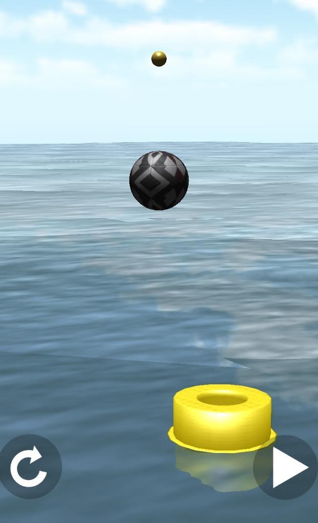 ボールを空中の球に当てるステージは難易度が高い