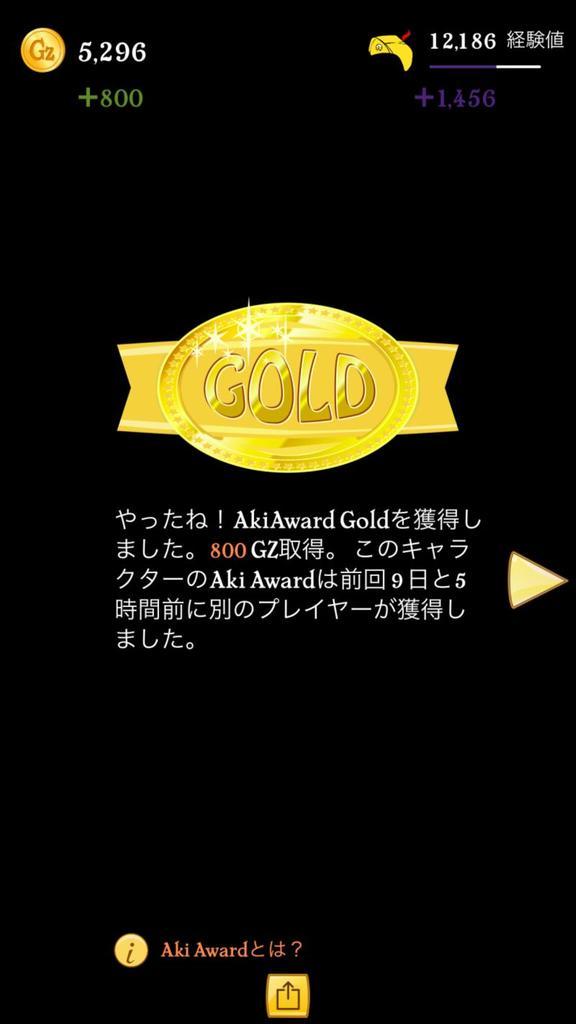 ゴールド獲得