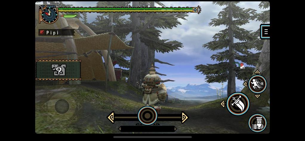 「モンスターハンター ポータブル 2nd G」のゲーム画面