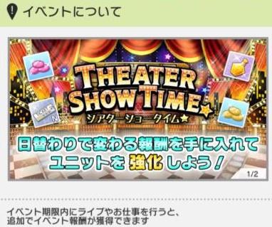 ミリシタの新イベントシアターショータイム
