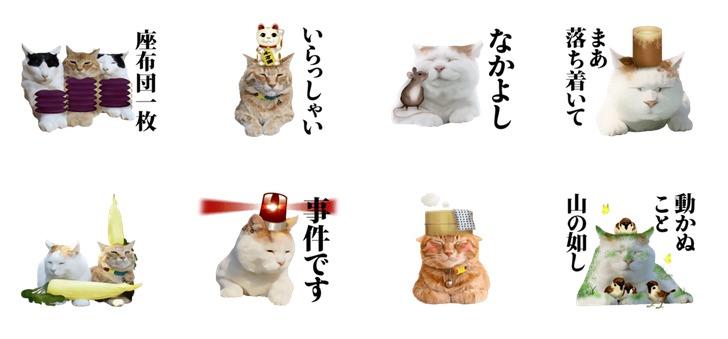 のせ猫スタンプ