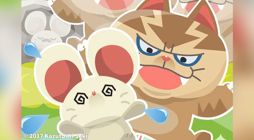 かわいいネズミのランゲーム☆ネコから逃げ切ってハイスコアを目指せ!【ドタバタラッシュ】