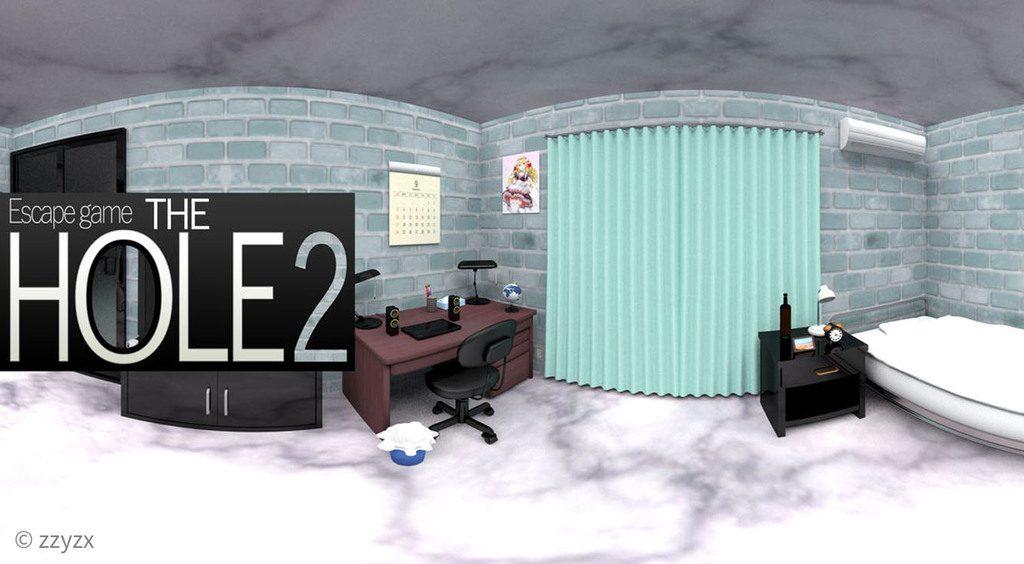 穴のある部屋再び!!シュール系脱出ゲーム第2弾【The hole2-石造りの部屋からの脱出-】