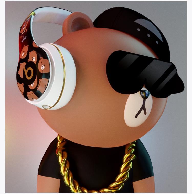 beatsとブラウンのコラボヘッドホン