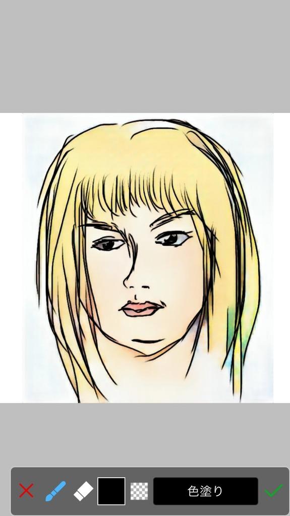 人工知能で着色された自画像