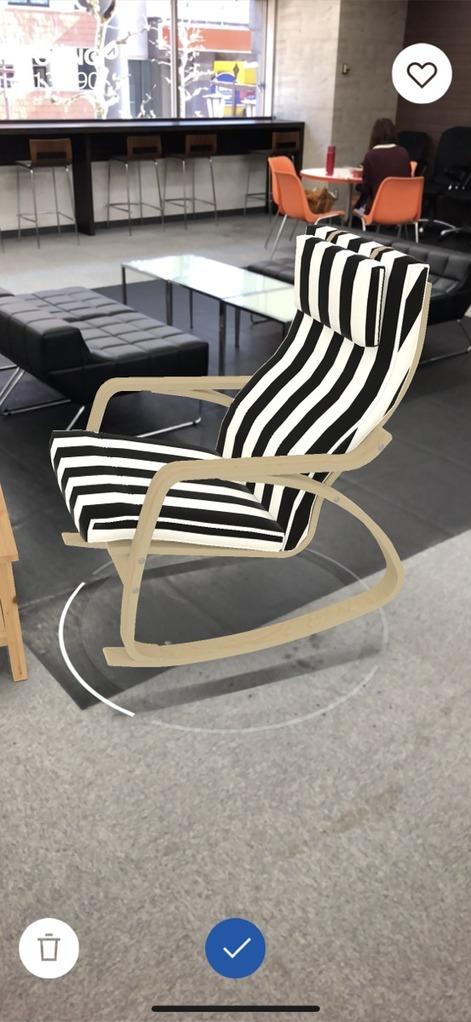 IKEA Placeでストライプの椅子を置いてみる