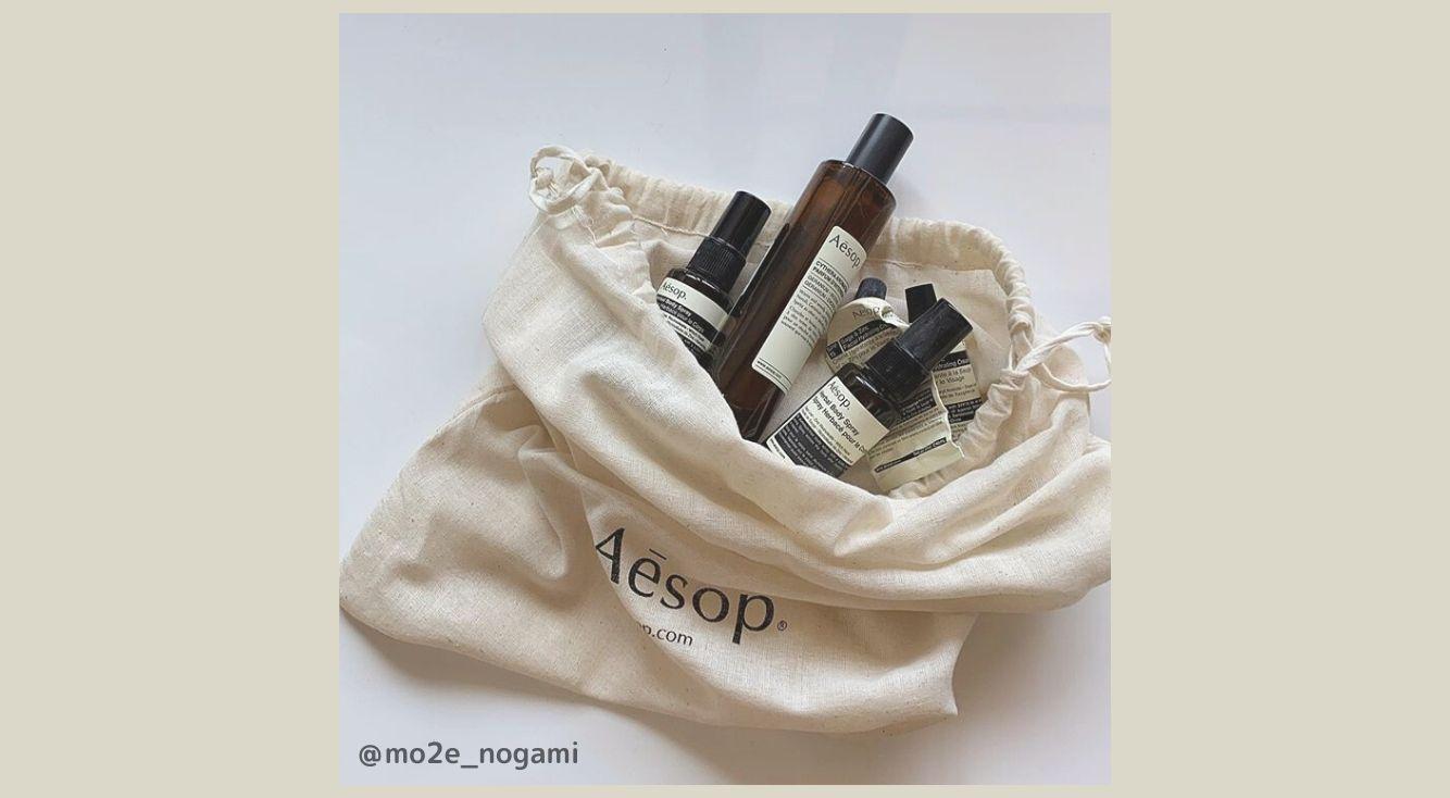 人気スキンケアブランド「Aesop(イソップ)」のショップバッグ活用法をご紹介♡