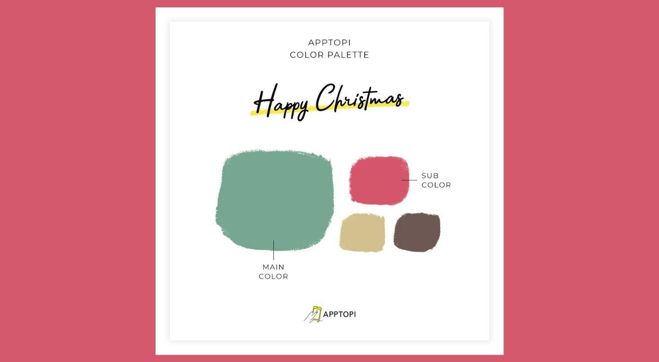 インスタストーリーで使える「クリスマスカラーパレット」を公開!スポイト機能を使って簡単クリスマス風ストーリー♡