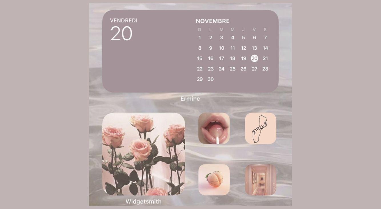 好きな色のカレンダーウィジェットが作れるアプリ「Ermine」でホーム画面に統一感を!言語変更も可能!