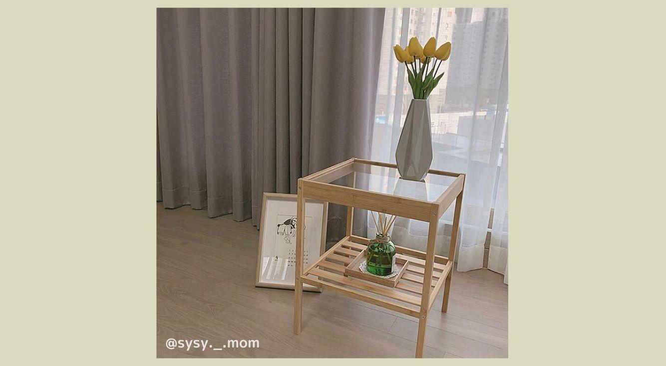 韓国で流行りの予感...?IKEAのサイドテーブルで憧れの韓国風ルームに♡