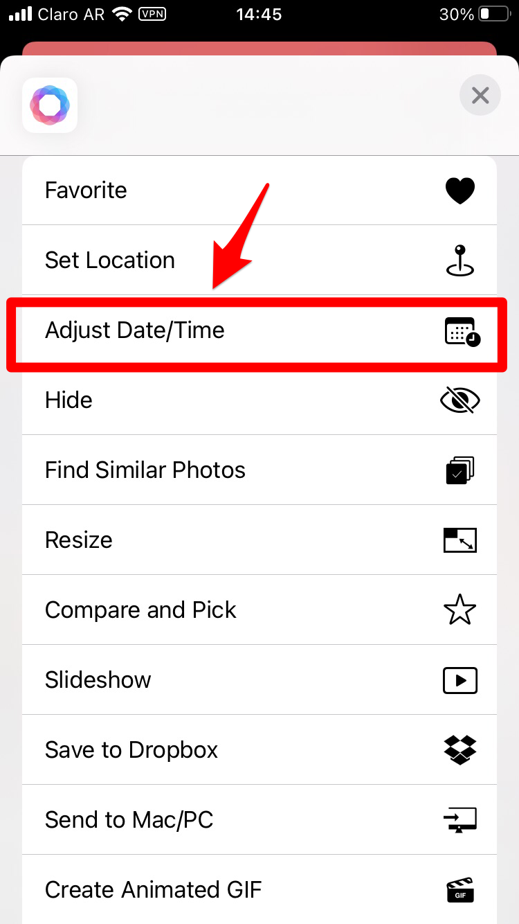 Adjust Date/Time