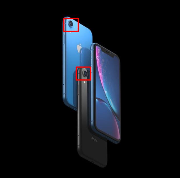 iPhoneXRのシングルカメラ画像