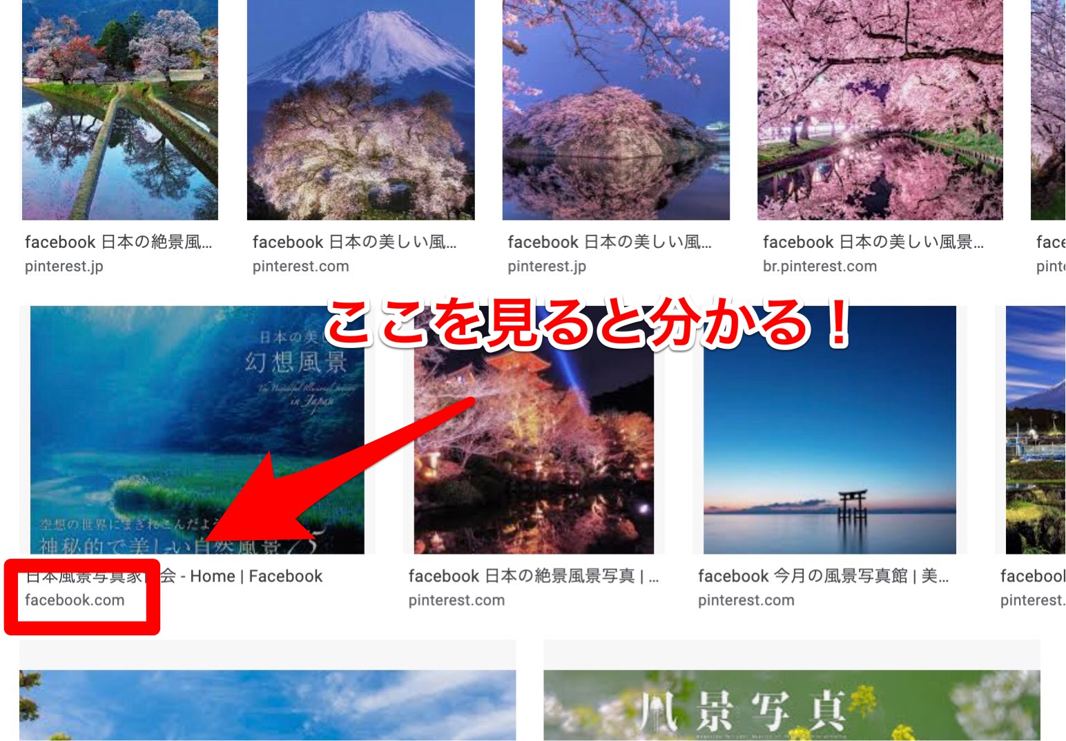 「名前+フェイスブック」で検索する