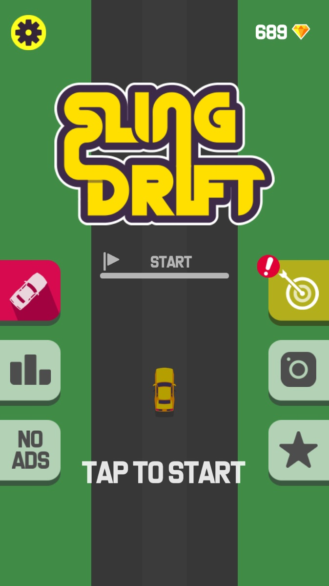 Sling Drift(スリングドリフト)のスタート画面