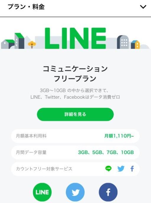 LINEのフリープラン